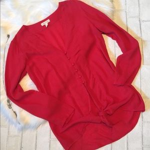 Cherry red blouse